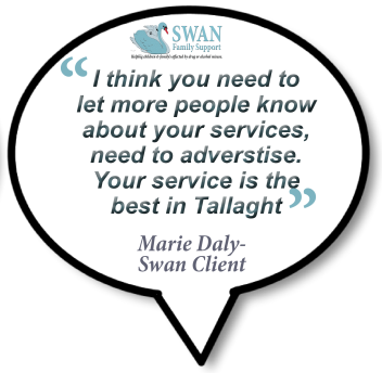 Testimonial for the Swan Family Support and Drug Rehabilitation centre
